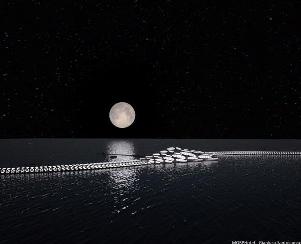 "perierga.gr - Ξενοδοχείο σε σχήμα ραχοκοκαλιάς ""ταξιδεύει"" στον ωκεανό!"