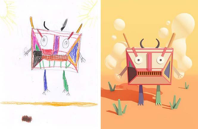 Καλλιτέχνες δίνουν ζωή σε παιδικές ζωγραφιές!