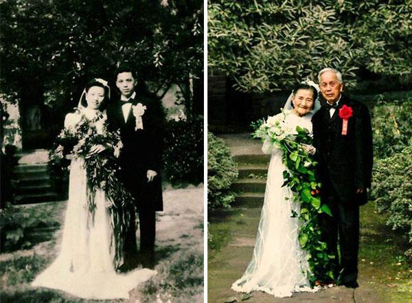 perierga.gr - 98 ετών ζευγάρι αναπαριστά το γάμο του 70 χρόνια μετά!