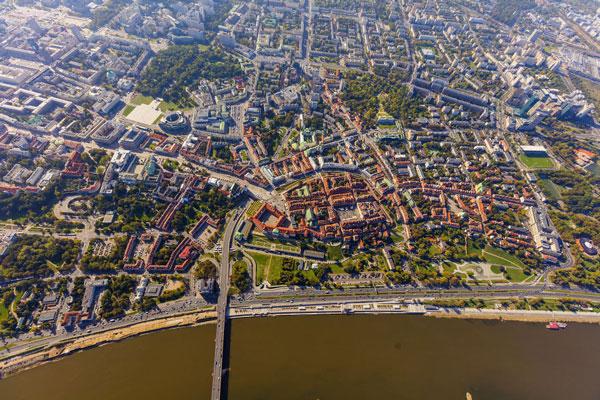 Υπέροχες φωτογραφίες της Βαρσοβίας από ψηλά!