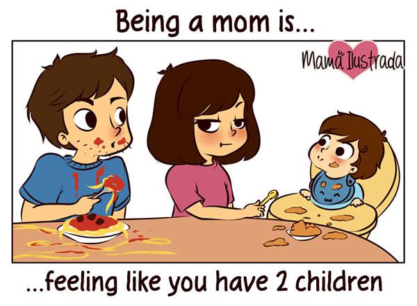 perierga.gr - Mαμά εικονογραφεί επιτυχημένα τα προβλήματα της μητρότητας!
