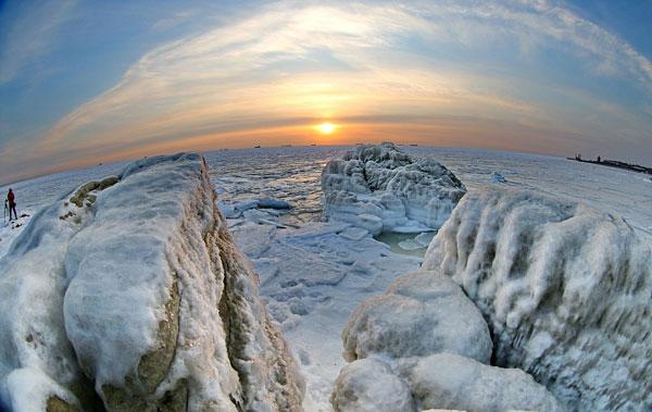 perierga.gr - Οι παγωμένες ακτές της Κίνας!