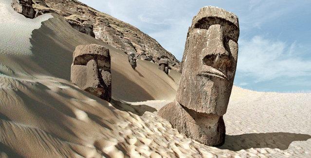 perierga.gr - Πώς θα ήταν γνωστά αξιοθέατα σε απόλυτη ξηρασία!