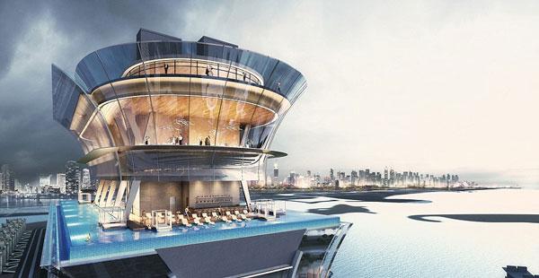 perierga.gr - Υπερπολυτελές ξενοδοχείο με πισίνα στον 50ό όροφο!
