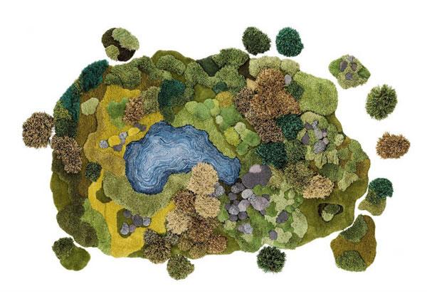 perierga.gr - Καλλιτέχνις δημιουργεί χαλιά εμπνευσμένα από τη φύση!