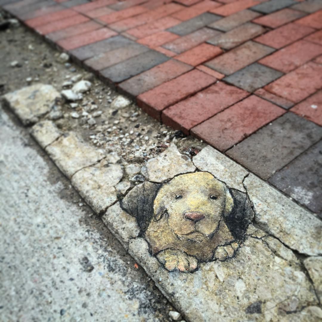 perierga.gr - Graffiti από κιμωλία στους δρόμους!