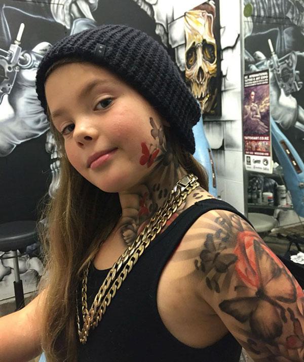 perierga.gr - Καλλιτέχνης κάνει προσωρινά τατουάζ σε άρρωστα παιδιά για να τα κάνει χαρούμενα!