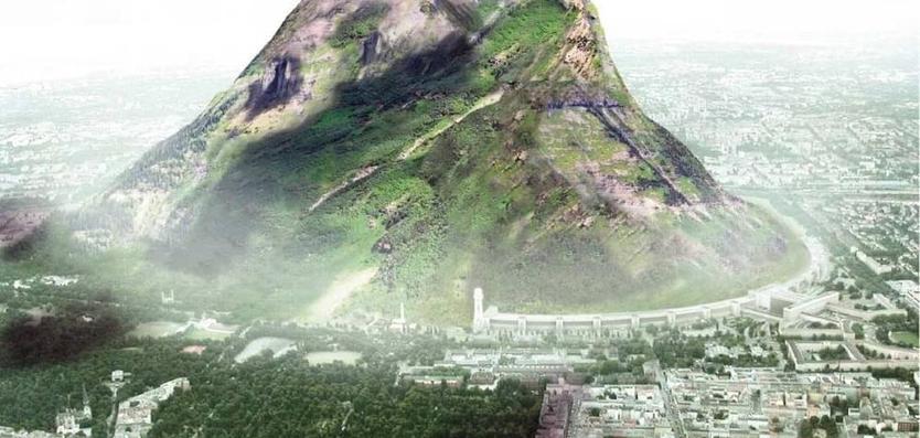 perierga.gr - Τα Ηνωμένα Αραβικά Εμιράτα χρειάζονται βροχή.... και χτίζουν ένα βουνό!