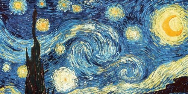 """perierga.gr - Αναδημιουργώντας την """"Έναστρη Νύχτα"""" του Βαν Γκογκ με νερό & χρώμα!"""