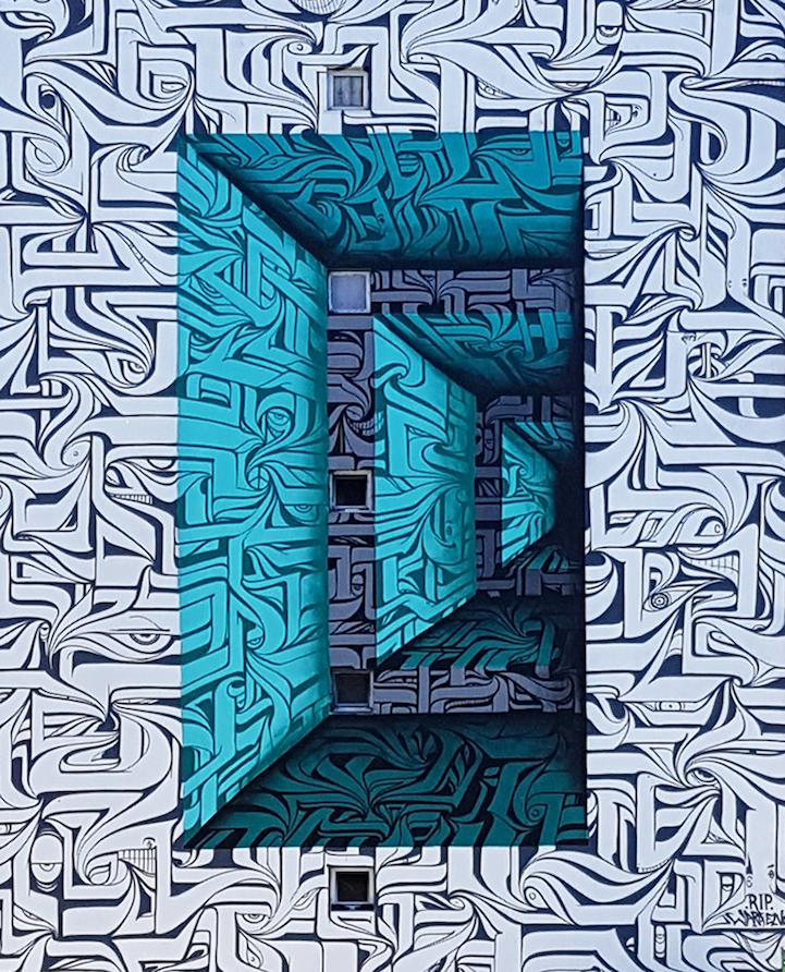 perierga.gr - Γκράφιτι στον τοίχο κτηρίου δημιουργεί απίθανη οπτική ψευδαίσθηση!