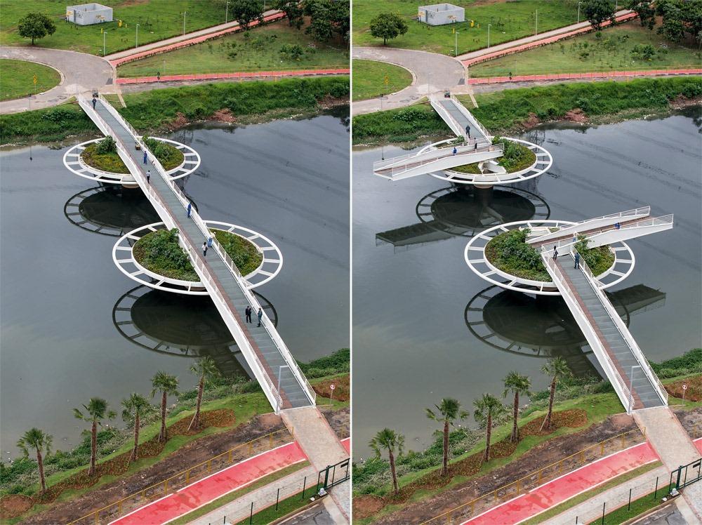 perierga.gr - Πρωτότυπη γέφυρα εμπνευσμένη από... νούφαρα!