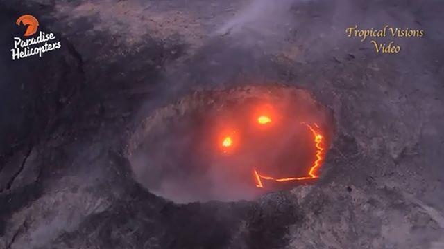 perierga.gr - Το ηφαίστειο Κιλαουέα της Χαβάης... ξύπνησε και χαμογελά!