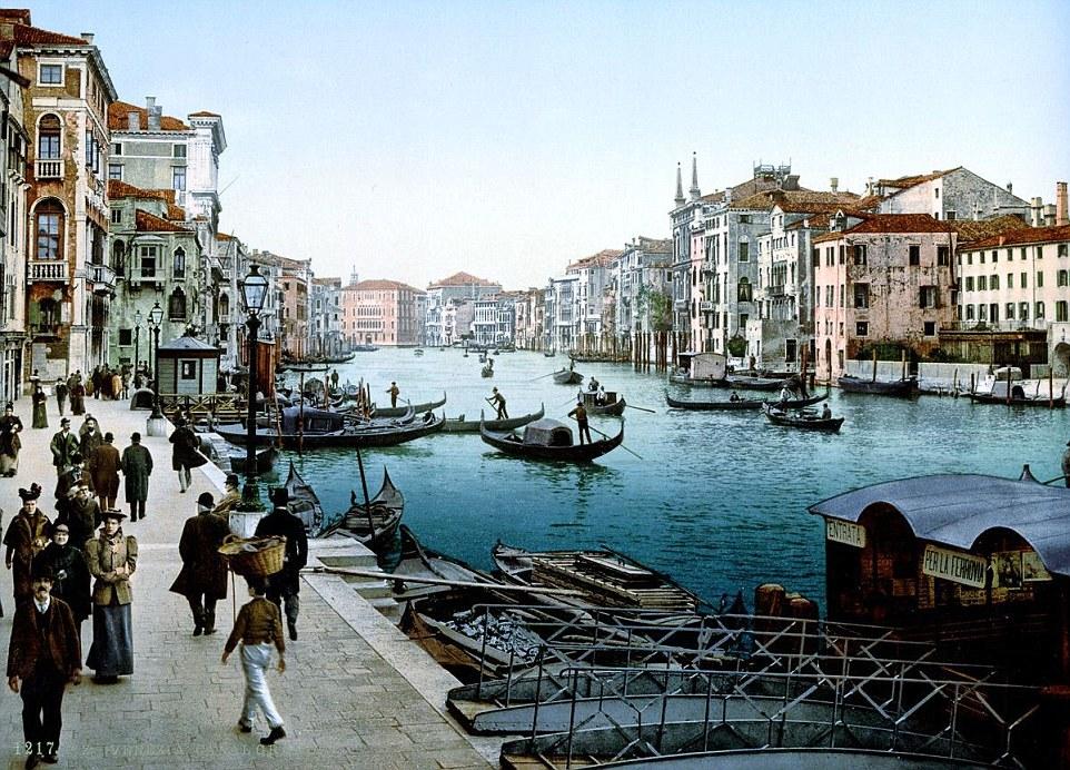 perierga.gr - Η Βενετία του 19ου αιώνα σε καρτποστάλ με χρώμα!