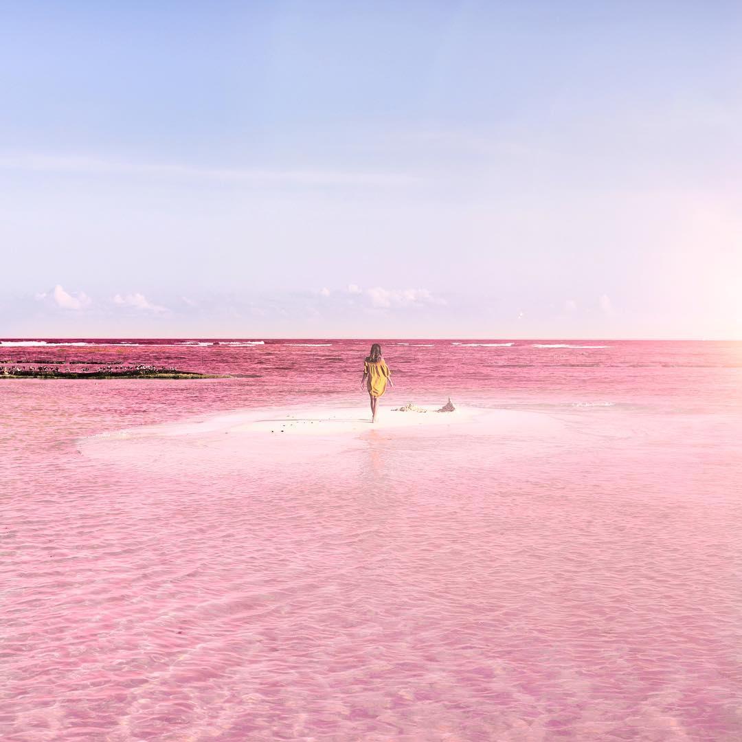 perierga.gr - Η απόκοσμη... ροζ ομορφιά μιας λίμνης!