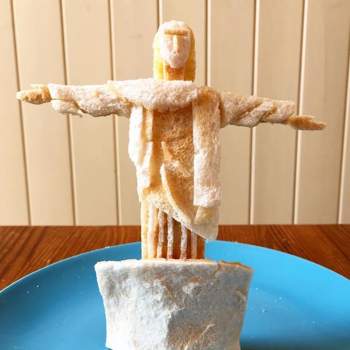 perierga.gr - 3D δημιουργίες με ψωμί του τοστ!