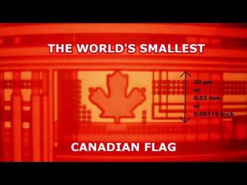 perierga.gr - H μικρότερη σημαία με μήκος 1,8 εκατομμυριοστά του μέτρου!
