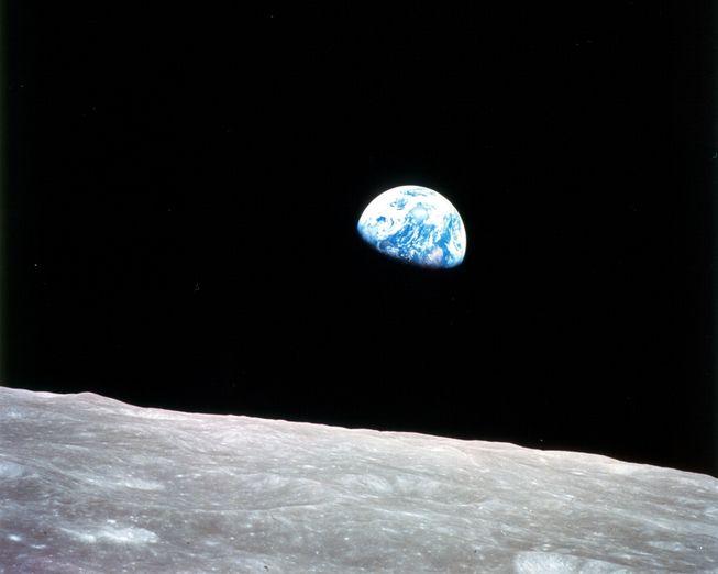 perierga.gr - Η... ανατολή της Γης από το φεγγάρι!