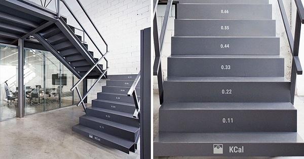 perierga.gr - Σκάλες μετράνε πόσες θερμίδες... καίμε!