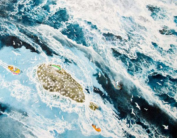 perierga.gr - Τεράστιο ζωγραφικό έργο δημιουργείται με μελάνι σε ένα βίντεο!
