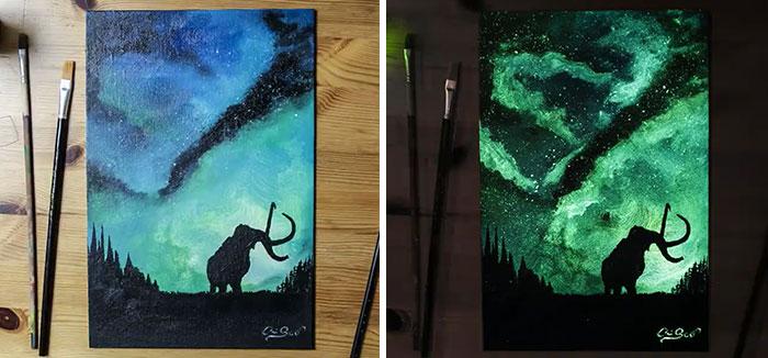 perierga.gr - Ζωγράφος δημιουργεί τους πίνακές του με το... φως!