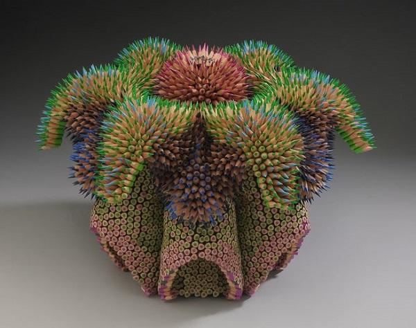 perierga.gr - Πολύχρωμες δημιουργίες με μολύβια!