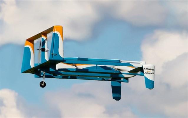 perierga.gr - H Amazon πραγματοποίησε την πρώτη παράδοση με drone!