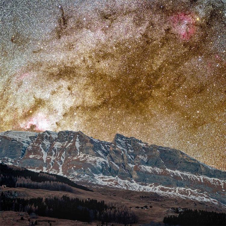 perierga.gr - Ο Γαλαξίας της Ανδρομέδας στο νυχτερινό ουρανό!
