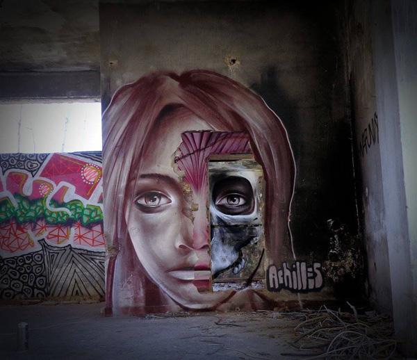 Perierga.gr-Έλληνας street artist δημιουργεί εντυπωσιακές συνθέσεις γκράφιτι