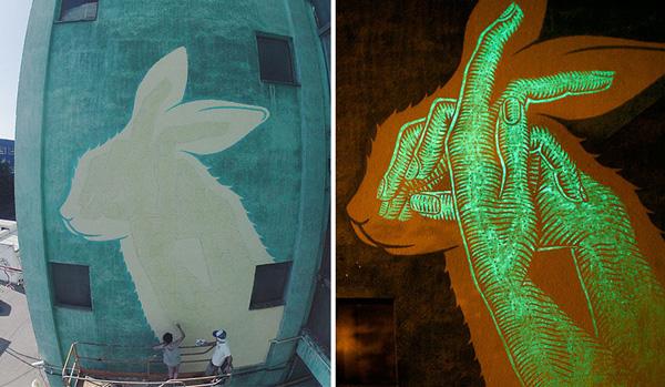 "Perierga.gr-""Συνηθισμένα"" γκράφιτι αλλάζουν στο σκοτάδι"