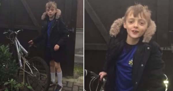 Perierga.gr-Ευαίσθητος κλέφτης επιστρέφει σε 9χρονο παιδί το ποδήλατό του
