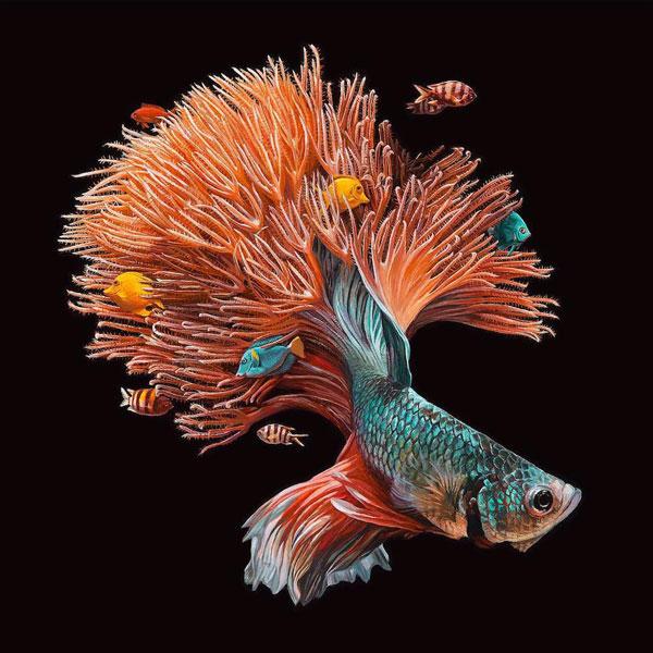 perierga.gr - Υπερρεαλιστική ζωγραφική ψαριών με το τον βιότοπό τους!