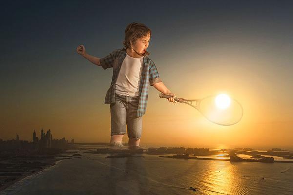 """Perierga.gr-Πατέρας """"ταξιδεύει"""" τον γιό του σε όλο τον κόσμο μέσα από απίθανες φωτογραφίες"""