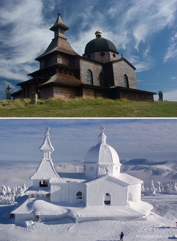 perierga.gr - Τοποθεσίες το καλοκαίρι & τον χειμώνα!