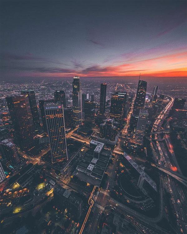 Perierga.gr-Εντυπωσιακές φωτογραφίες του Los Angeles από ελικόπτερο