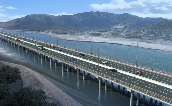 perierga.gr - Ο ψηλότερος δρόμος κατασκευάζεται στο Θιβέτ!