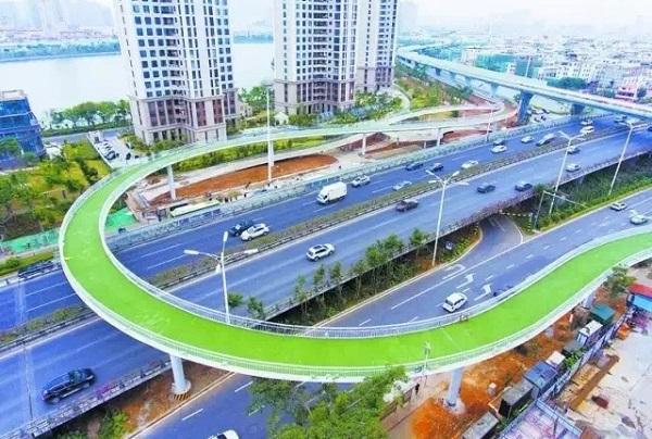 perierga.gr - Ο μεγαλύτερος εναέριος ποδηλατόδρομος άνοιξε στην Κίνα