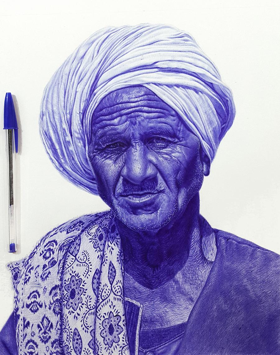 perierga.gr - Υπερρεαλιστικά πορτρέτα ζωγραφισμένα με... στιλό!