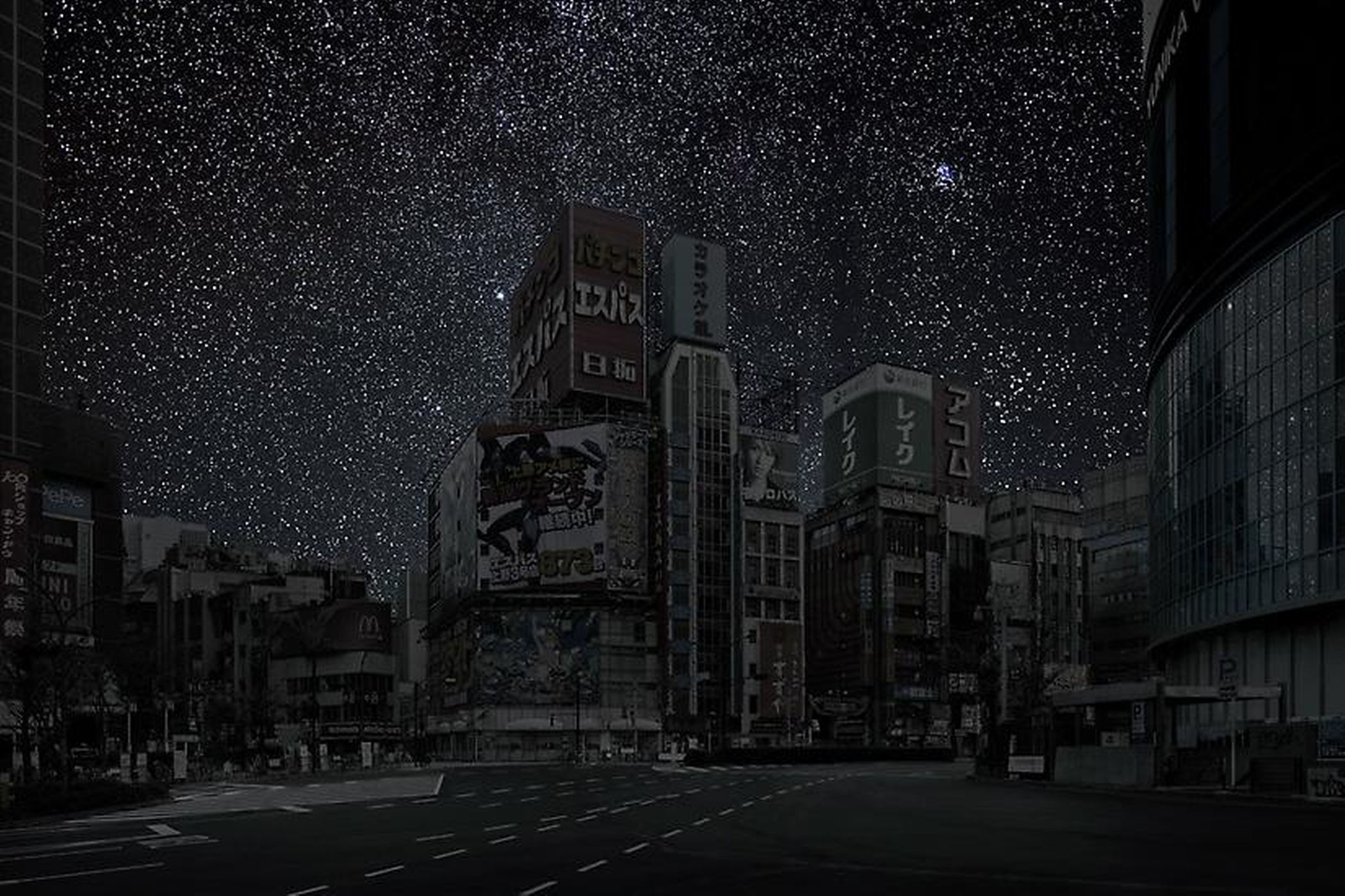 perierga.gr  Πόλεις φωτίζονται μόνο από τα αστέρια!