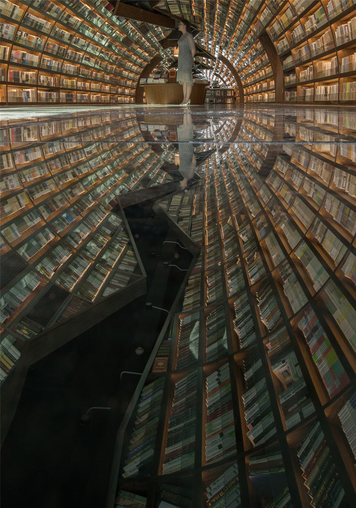 perierga.gr - Βιβλιοπωλείο μιμείται την κίνηση του νερού!