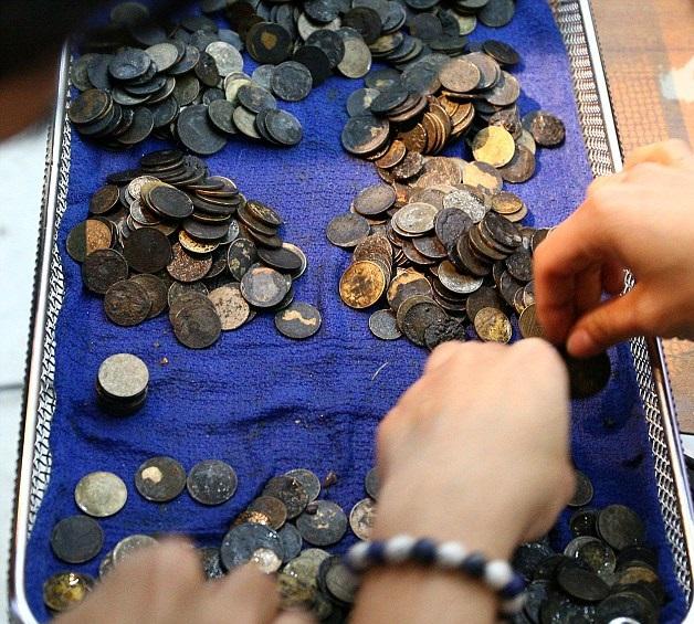 perierga.gr - Κτηνίατροι αφαίρεσαν 917 νομίσματα από το στομάχι χελώνας!