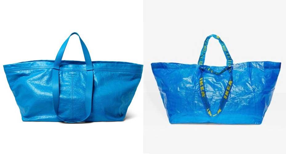 Perierga.gr - Ο Balenciaga αντέγραψε την τσάντα της ΙΚΕΑ και την πουλά για $2.000 - Η IKEA απάντησε
