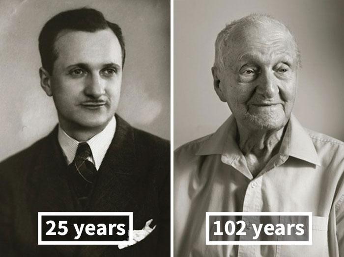 perierga.gr - Tότε & τώρα: Από τη νεότητα στα γηρατειά!