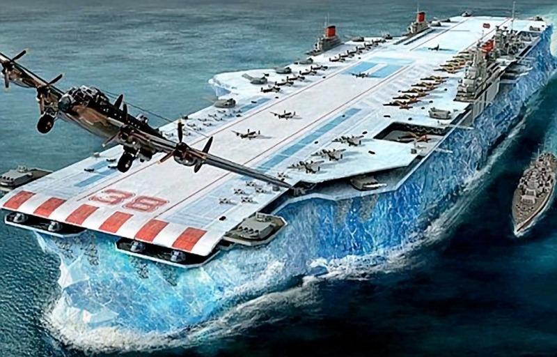 perierga.gr - Το μυστικό αεροπλανοφόρο των Βρετανών από πάγο!