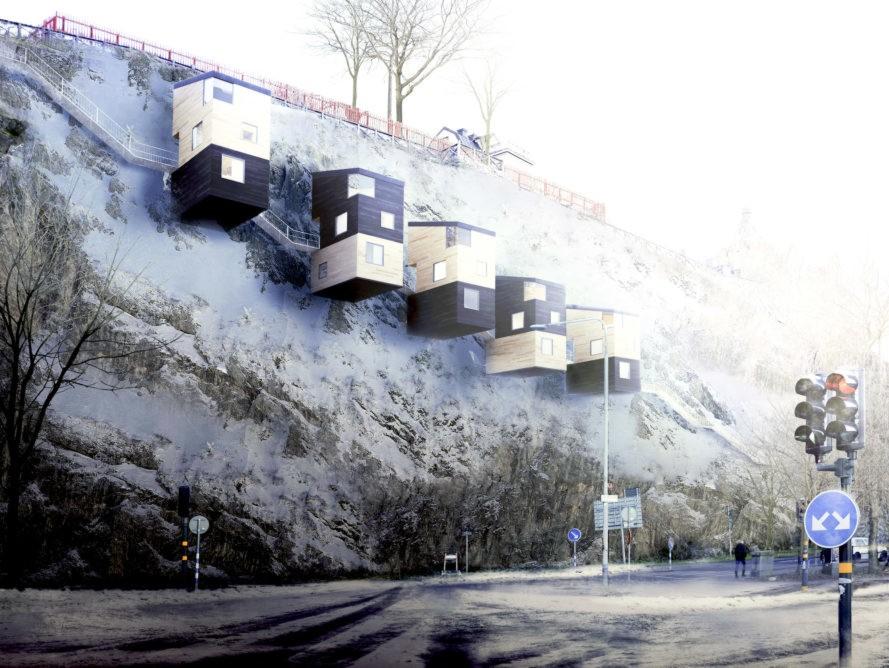 perierga.gr - Νέος τύπος σπιτιών επιτρέπει τη διαμονή σε μεγάλα ύψη!