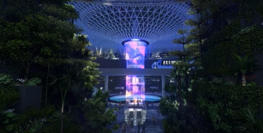 perierga.gr - Ο μεγαλύτερος εσωτερικός καταρράκτης στο αεροδρόμιο της Σιγκαπούρης!
