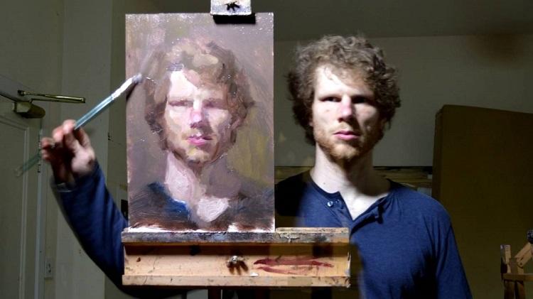 perierga.gr - Ζωγράφος κάνει το πορτρέτο του μπροστά στον καθρέφτη!