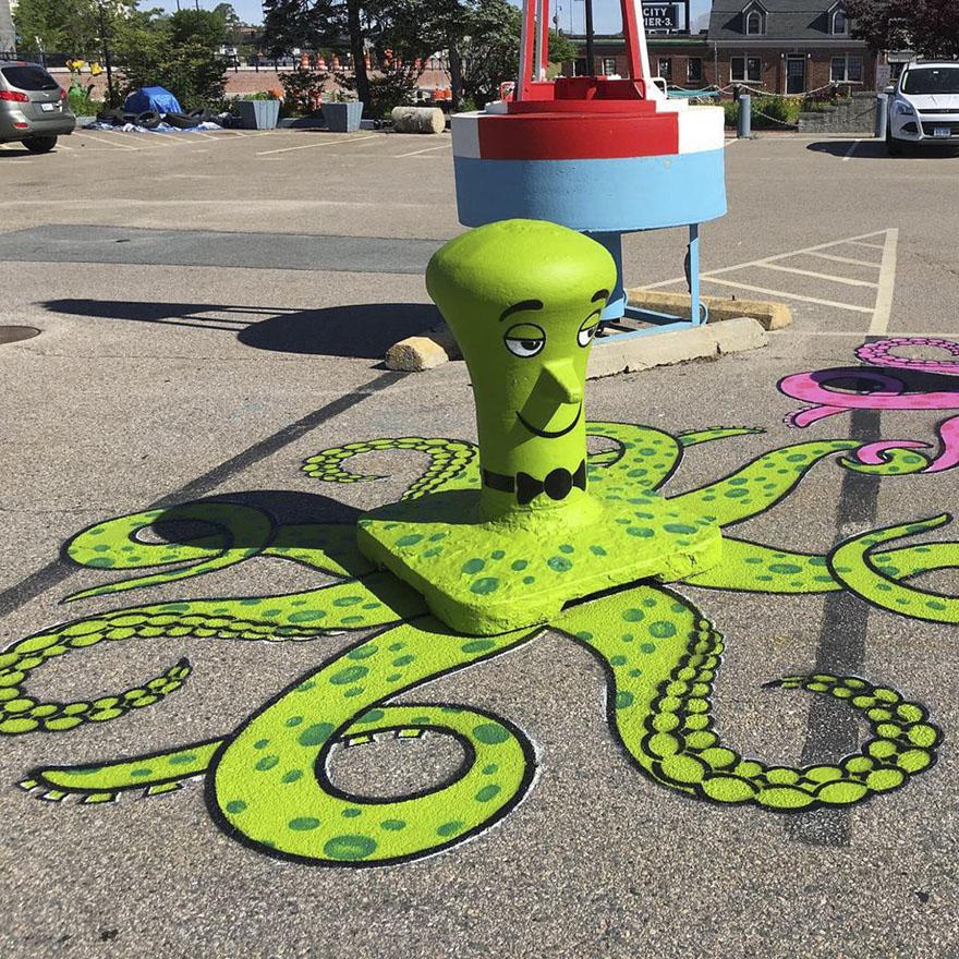 perierga.gr - Έξυπνη τέχνη του δρόμου μεταμορφώνει το αστικό τοπίο!