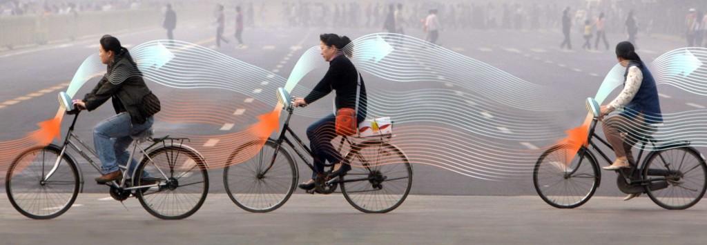 perierga.gr - Στο μέλλον τα ποδήλατα θα καθαρίζουν τον αέρα!