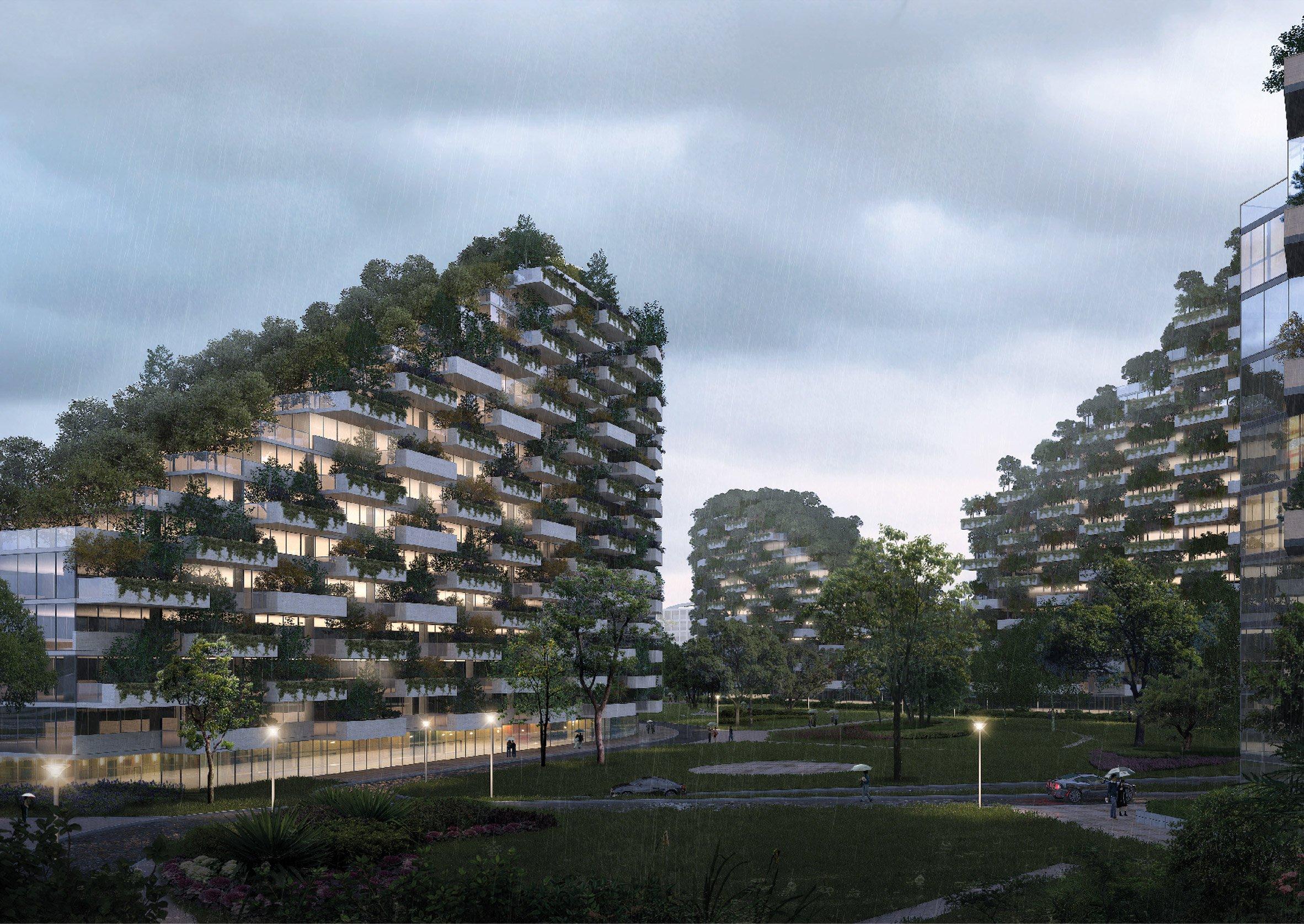 perierga.gr - Πόλεις-δάση στην Κίνα κατά της ρύπανσης!
