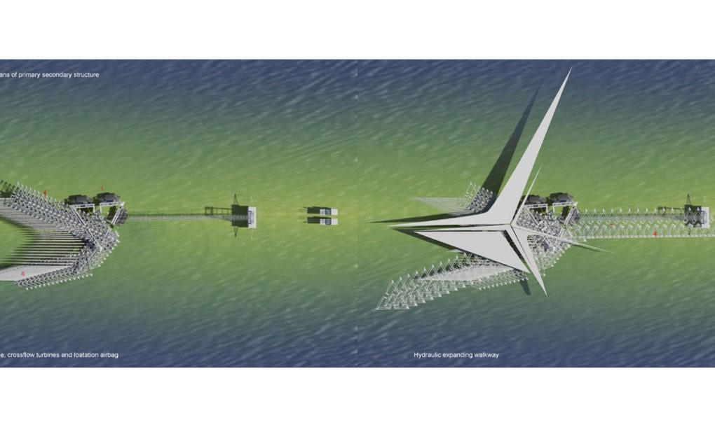 perierga.gr - Πλωτή πεζογέφυρα λειτουργεί σαν βάρκα
